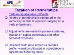 taxation of partnerships20