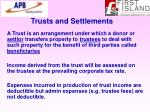 trusts and settlements