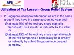 utilisation of tax losses group relief system38