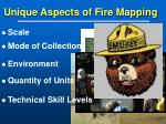 unique aspects of fire mapping