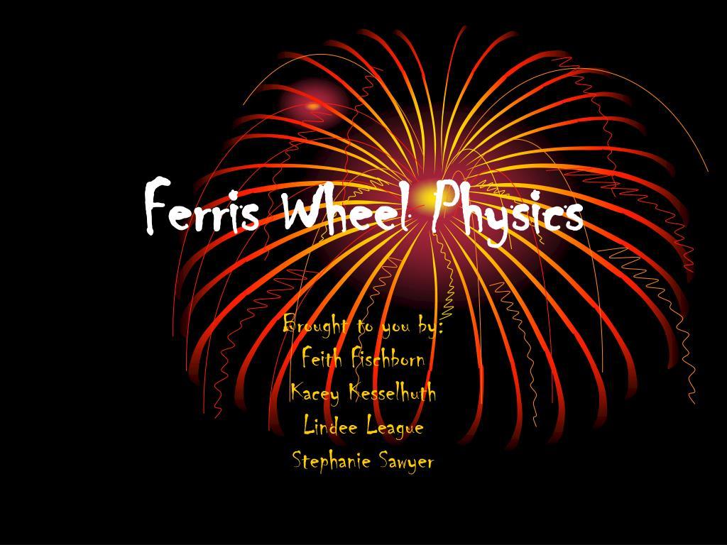 ferris wheel physics l.