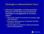 furlough or administrative leave