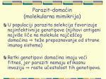 parazit doma in molekularna mimikrija