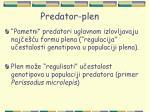 predator plen