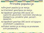 prirodne populacije