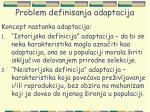 problem definisanja adaptacija18