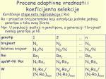 procene adaptivne vrednosti i koeficijenta selekcije