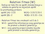 relativni fitnes w29