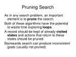 pruning search