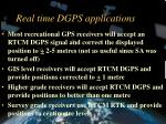 real time dgps applications