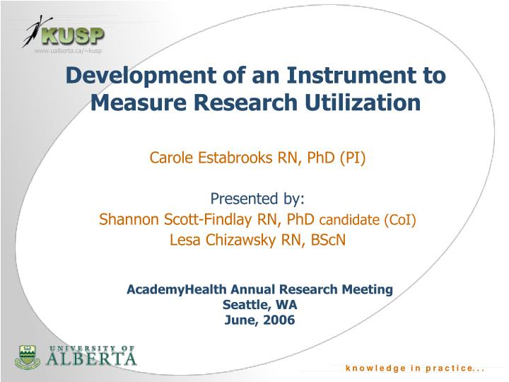 development of an instrument to measure research utilization n.