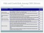 osa and crash risk among cmv drivers12