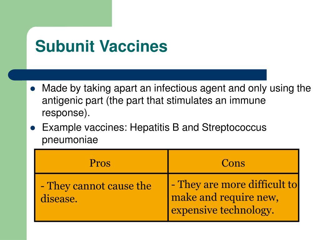 Subunit Vaccines