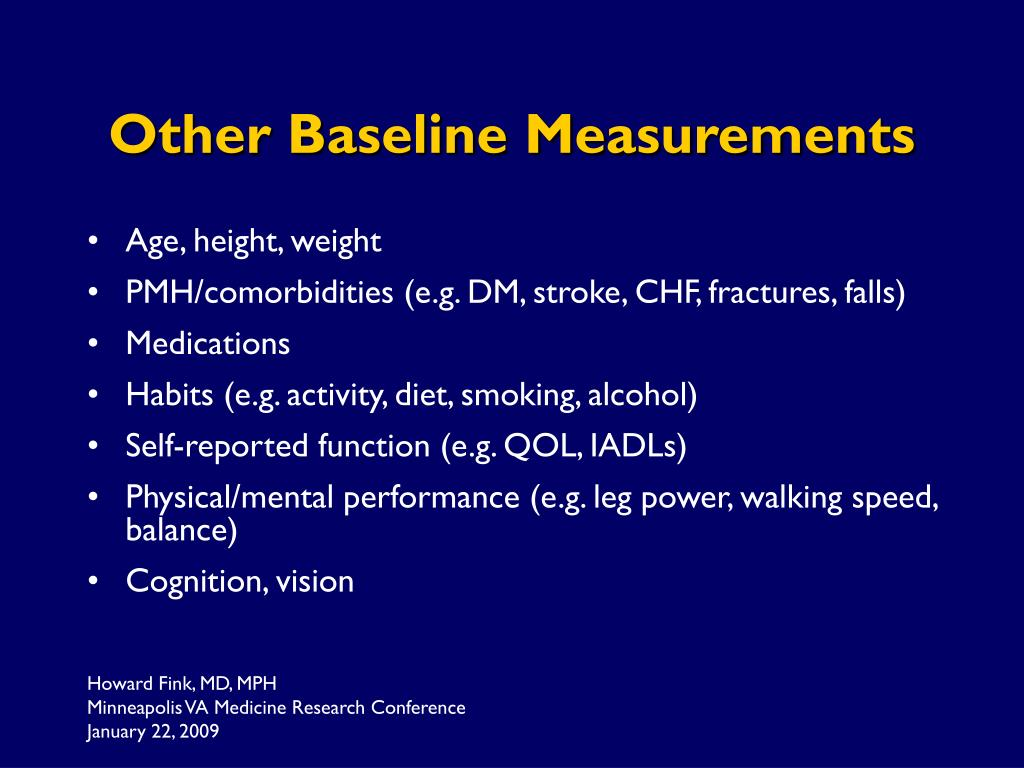 Other Baseline Measurements