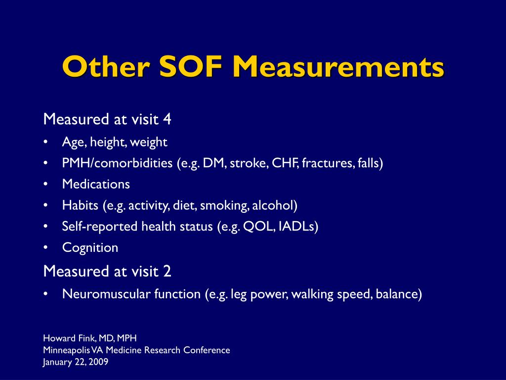 Other SOF Measurements