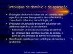 ontologias de dom nio e de aplica o