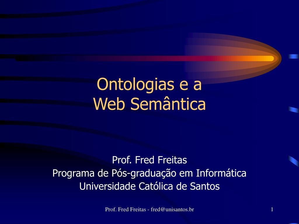 ontologias e a web sem ntica l.