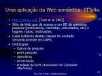 uma aplica o da web sem ntica ittalks