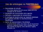 uso de ontologias no master web