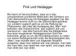 fink und heidegger