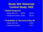 study 304 historical control study 1003