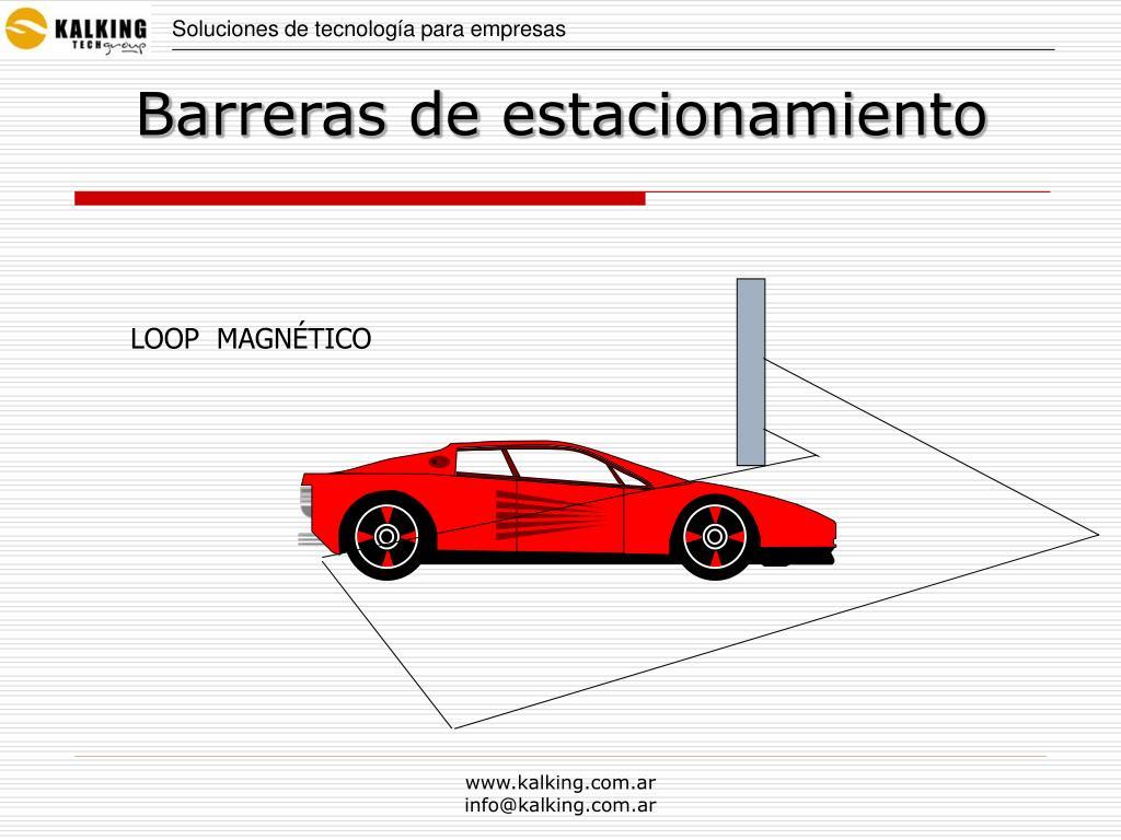 Barreras de estacionamiento