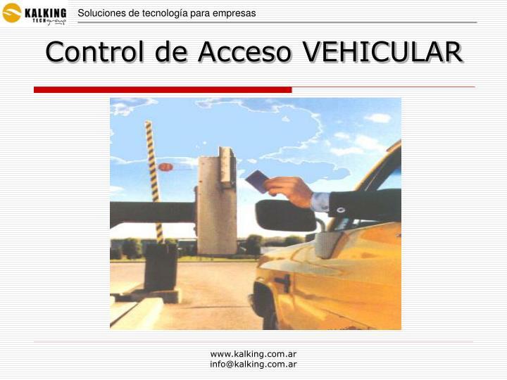 Control de acceso vehicular
