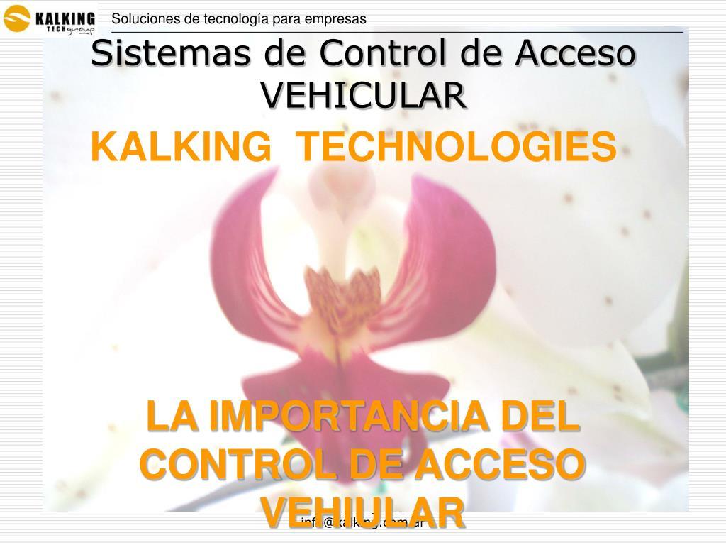 Sistemas de Control de Acceso VEHICULAR