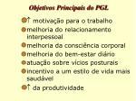 objetivos principais do pgl13