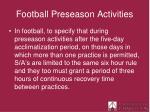 football preseason activities