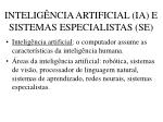 intelig ncia artificial ia e sistemas especialistas se