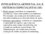 intelig ncia artificial ia e sistemas especialistas se51