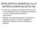 intelig ncia artificial ia e sistemas especialistas se52