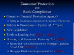 consumer protection and bank compliance