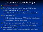 credit card act reg z