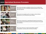 specialized business processes