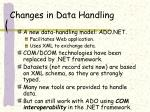 changes in data handling