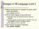 changes in vb language cont