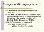 changes in vb language cont11