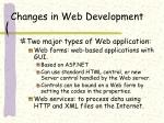 changes in web development