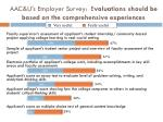 aac u s employer survey e valuations should be based on the comprehensive experiences