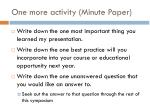 one more activity minute paper