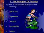 1 the principles of training