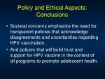 policy and ethical aspects conclusions53