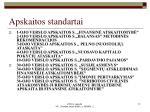 apskaitos standartai