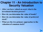 chapter 11 an introduction to security valuation3