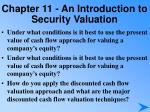 chapter 11 an introduction to security valuation4