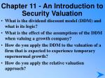 chapter 11 an introduction to security valuation5