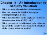 chapter 11 an introduction to security valuation6