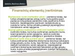 finansini element vertinimas42
